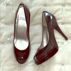 STUART WEITZMAN PEEP TOE STILETTO PUMP 38